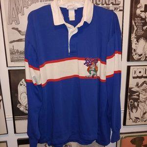 Vintage 90s Adidas Blue Fox Baseball Shirt